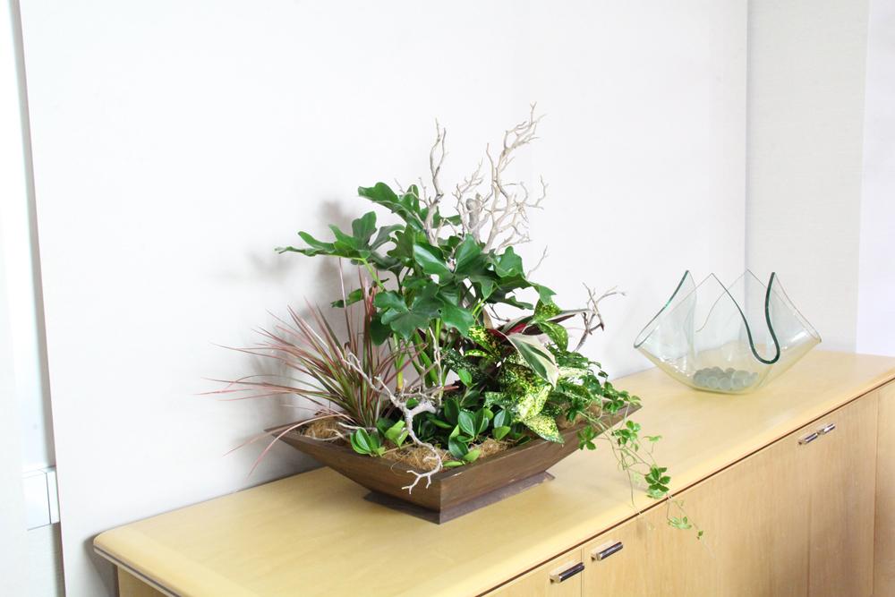 【木の香り、シャープなデザイン、自由に寄せ植えできる】 ウーボ